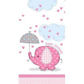 Mantel elefante rosa baby