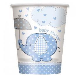Vasos elefante azul baby 8 und