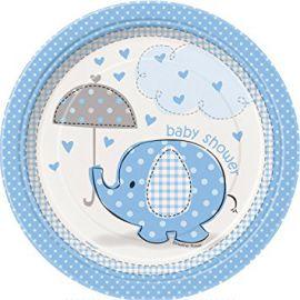 Platos elefante azul baby 8 und
