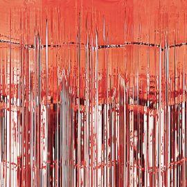 Cortina metal roja