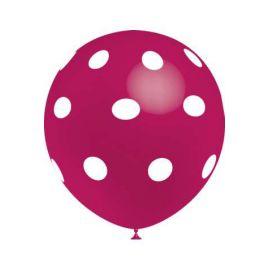 Globo gigante rosa con lunares