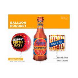 Composición globos cervezas