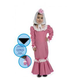 Disfraz madrile;a chulapa rosa 0-6 meses