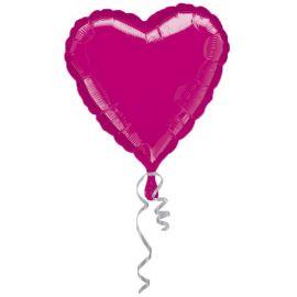 Globo helio corazón jumbo fucsia