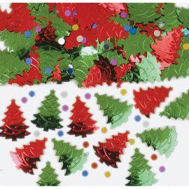 Confetti navidad árboles
