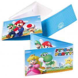 Invitaciones Mario Bross