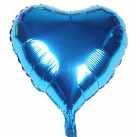 Globo helio corazon jumbo azul metal