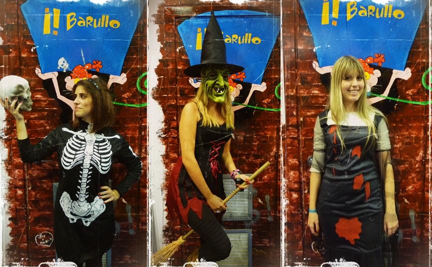 clientes barullo disfrazados de halloween