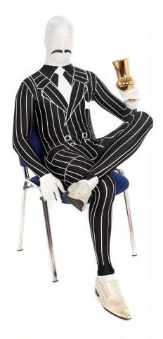 morphsuit ganster negro rayas
