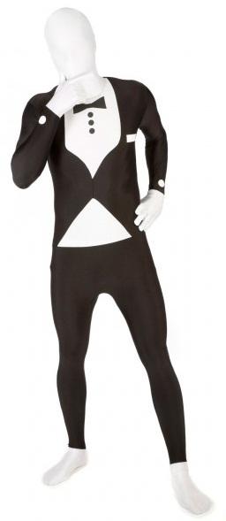 morphsuit esmoquin negro ajustado