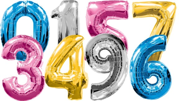 coloured-foil-number-balloons