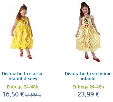 disfraces de bella para niña