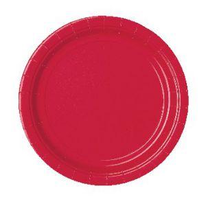 Platos rojos 22,5 cm (10 unid.)