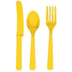 Tenedores amarillos (10 unid.)