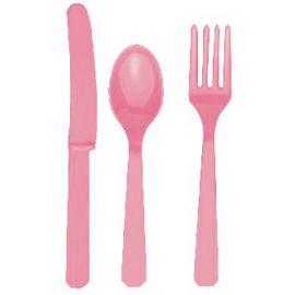 Tenedores rosa pastel (10 unid)