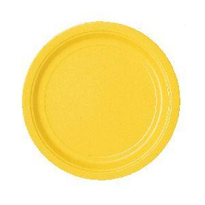 Platos amarillos 22,5 cm (10 unid.)