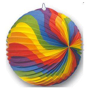 Farolillo redondo multicolor 30 cm