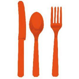 Tenedores naranja (10 unid)