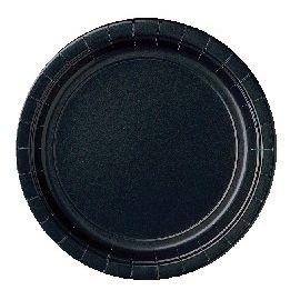 Platos negro 22,5 cm (10 unid)
