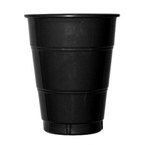 Vaso grande negro (10 unid)