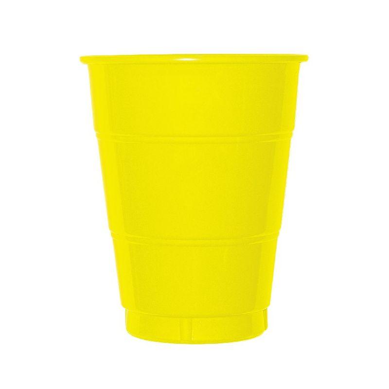 Vaso grande amarillo 10 unid for Vaso grande
