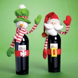 Decoracion botella navidad