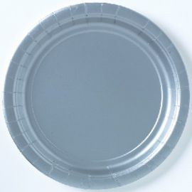 Platos plata 22,5 cm (10 unid.)