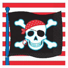 Servilletas piratas (16 unid)
