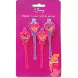 Relojes princesas disney (pack 4 uds)