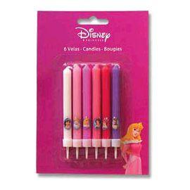 Velas princesas disney (pack 6 uds)