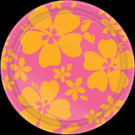 Platos hibiscus rosa 26,6 cm (8 unid.)