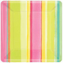 Platos sunny stripe 25,4 cm (8 unid.)