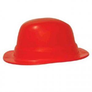 Sombrero bombin unicolor rojo