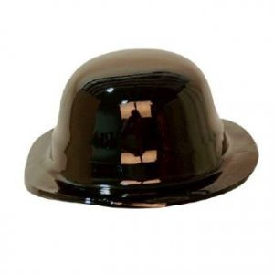 Sombrero bombin unicolor negro