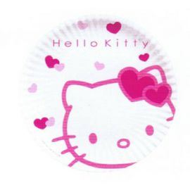 Platos hello kitty 23 cm (10 uds)