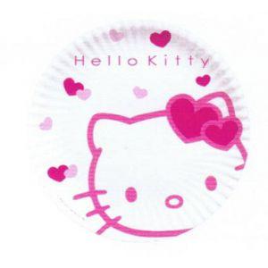 Platos hello kitty 23 cm (10 uds)