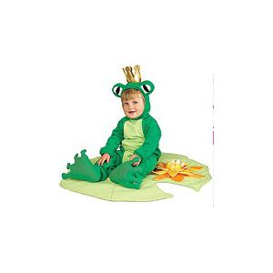 Disfraz bebe ranita con corona