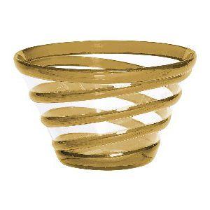 Bowl pequeño cinta oro