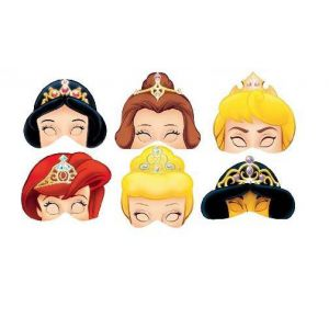 Caretas princesas (pack 6 unid)