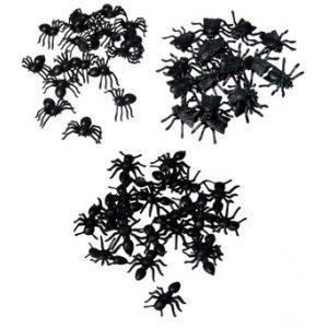 Bolsa arañas, hormigas, moscas 100 unid.