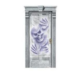 Decoración puerta gore creature