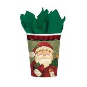 Vasos cozy santa (8 uds)