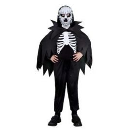 Disfraz esqueleto c/capa niño