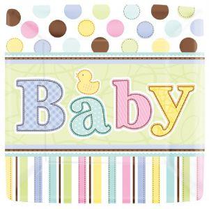 Platos baby shower 17,7 cm (18 uds)