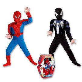 Disfraz spiderman musculos reversible