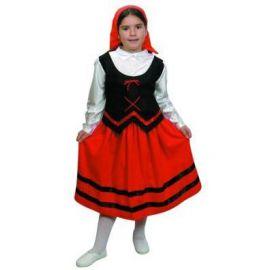 Disfraz pastora bt rojo/negro
