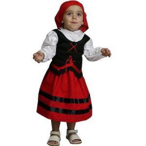 Disfraz pastora rojo/negro 1-2 años