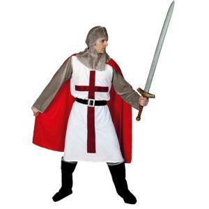 Disfraz caballero medieval cruzado hombr