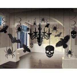 Kit decoracion colgantes halloween
