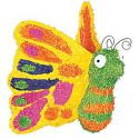 Piñata mariposa volumen